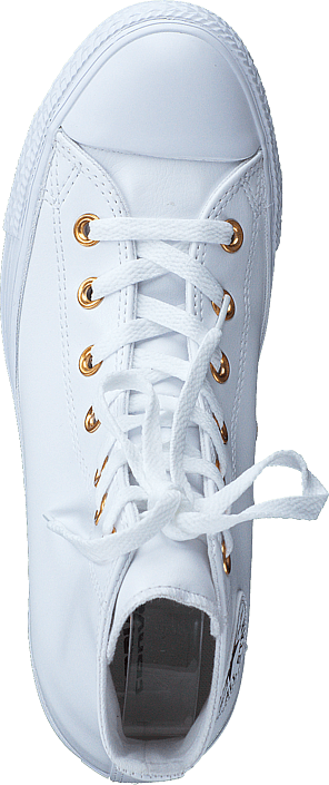 Converse - All Star Classic Hi Leather White/Gold