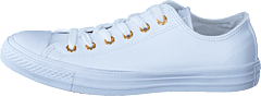 All Star Classic Ox Leather White/Gold