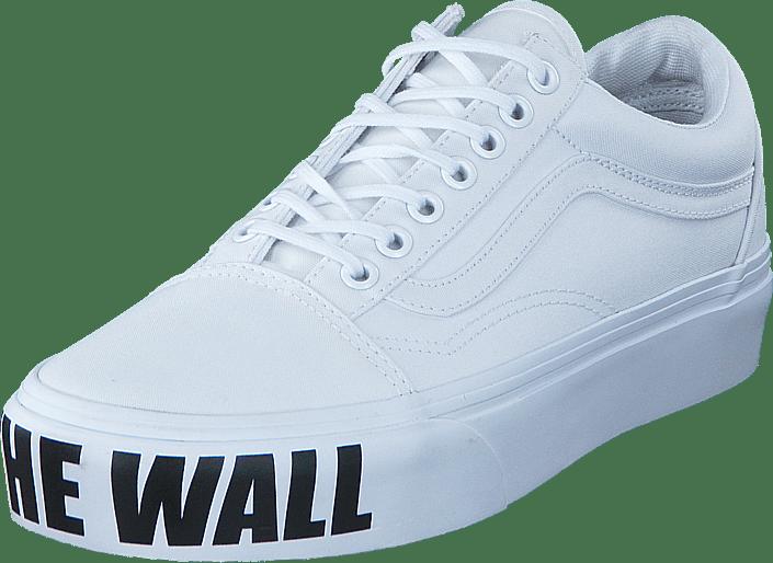 Platform Wall Weiße Vans Skool The off Ua True White Old Schuhe ctwzUYqOw