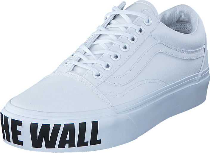be7d93a5ed1aa1 Buy Vans UA Old Skool Platform (Off the Wall) true white white Shoes ...