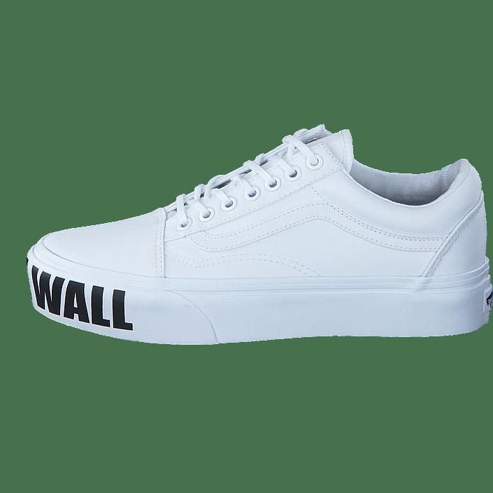 Vans White Weiß The Skool Ua Old Platform Schuhe Wall off True rZwr4q8
