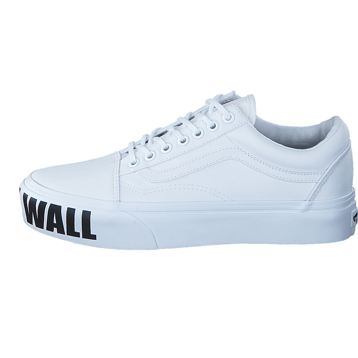 4890a8e807 Buy Vans UA Old Skool Platform (Off the Wall) true white white Shoes Online
