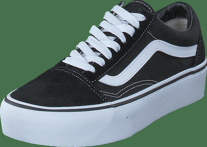 UA Old Skool Platform Black/White