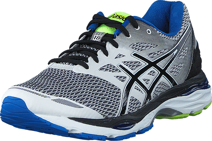 Asics - Gel Cumulus 18 White/Black/Electric Blue