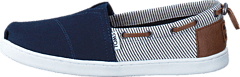 Young Navy Canvas/Stripes Navy