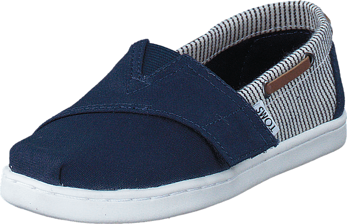 Toms - Infant Navy Canvas/Stripes Navy