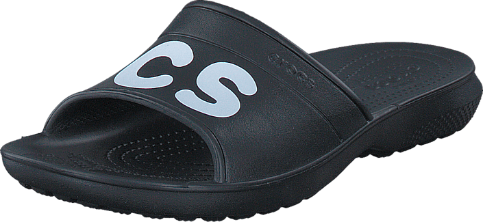 Crocs - Classic Graphic Slide Black/White