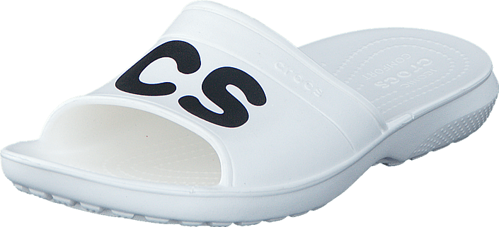 Crocs - Classic Graphic Slide White/Black