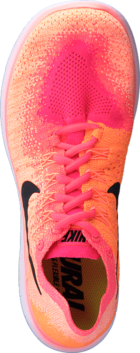 Nike - Wmns Free Rn Flyknit 2 Bright Mango/Black-Racer Pink