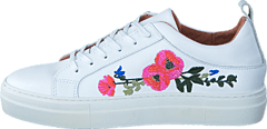 Paulina Leather Flower White