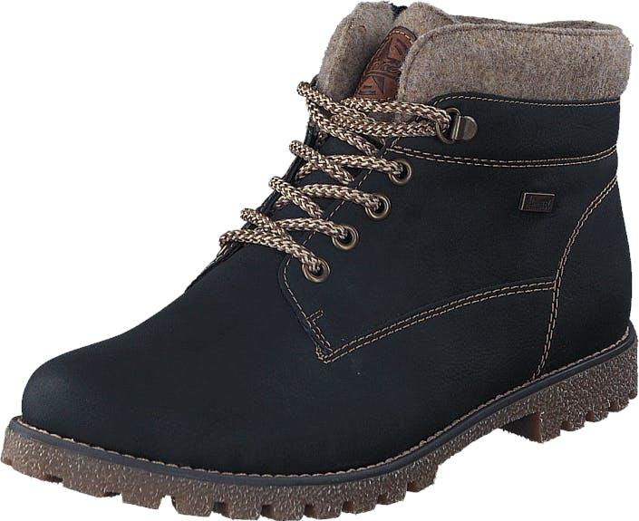Rieker K1568-01 01 Black, Skor, Sneakers & Sportskor, Fårskinnsstövlar, Brun, Svart, Barn, 35