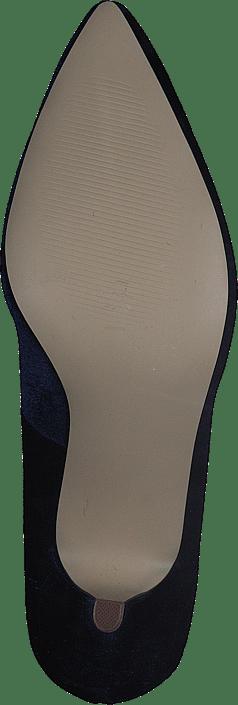 Velvet Brooch Shoe OND17 30 Navy Blue