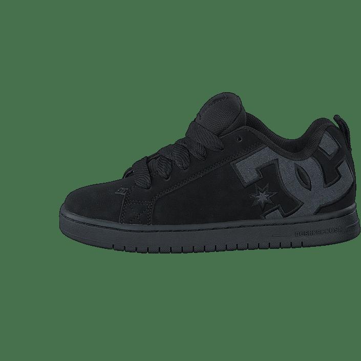 Kjøp DC Shoes Court Graffik SE Black Destroy Wash sko Online
