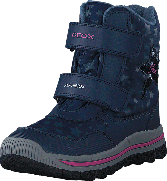 Geox - J Overland B Girl AB Navy/Fuchsia