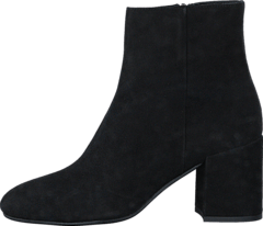 Bootlet W/Chunky Heel Black Suede