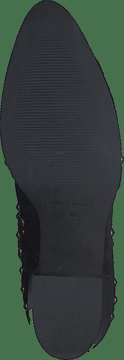 A Pair - Bootlet W/Rivets Black Suede