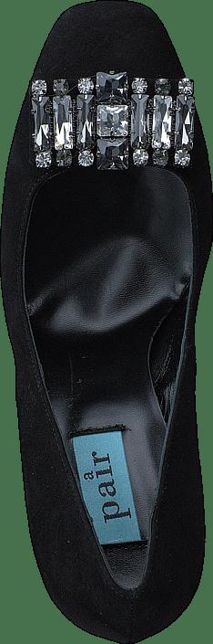 Nouvelle Version Chaussures De Femme Acheter A Pair Low Pump W/Swarowski Black Suede Chaussures Online QWRqq8TO