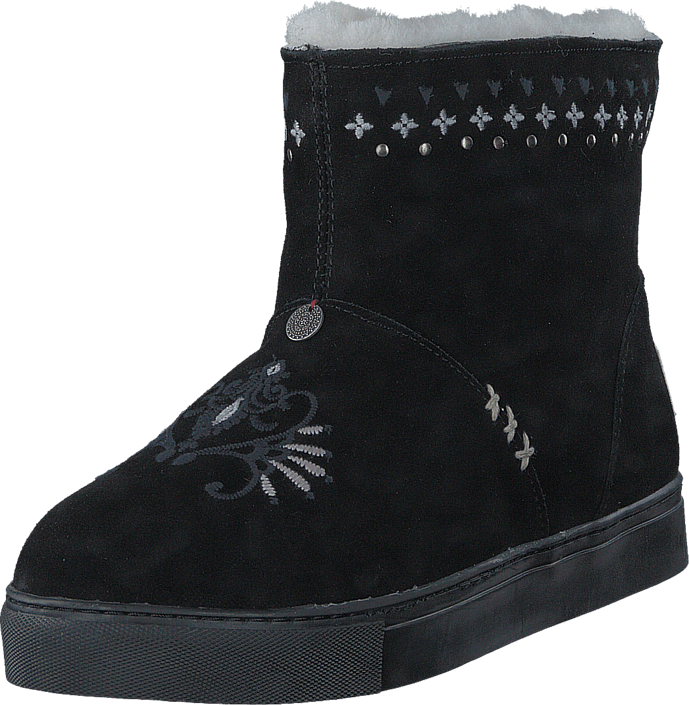 Odd Molly - Suedey Low Boot Almost Black