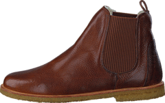 Chelsea boot with wool lining 2509 Medium Brown