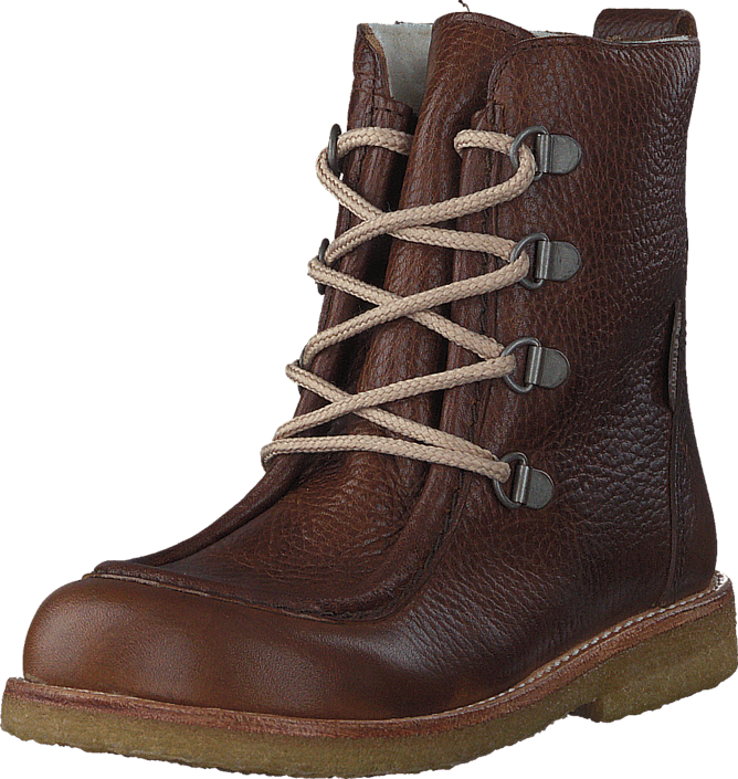 TEX-boot w. zipper and laces 2509/1589 Red-brown