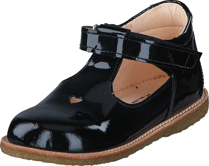 separation shoes 7cbc9 6b53e Mary janes w. heart and velcro 2320 Black