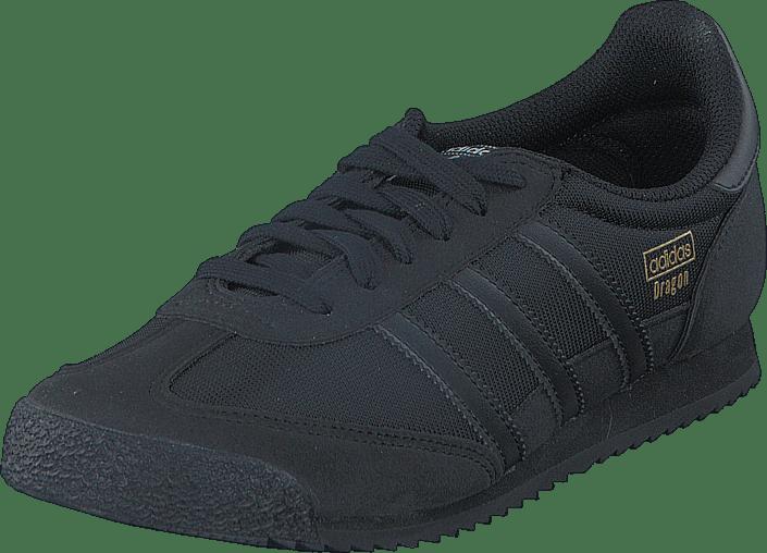 adidas originals dragon og trainers footwear white core black gold ...