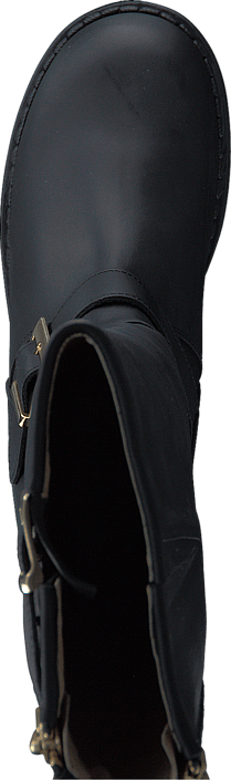 High Boot Double Zip Black / Shiny Gold