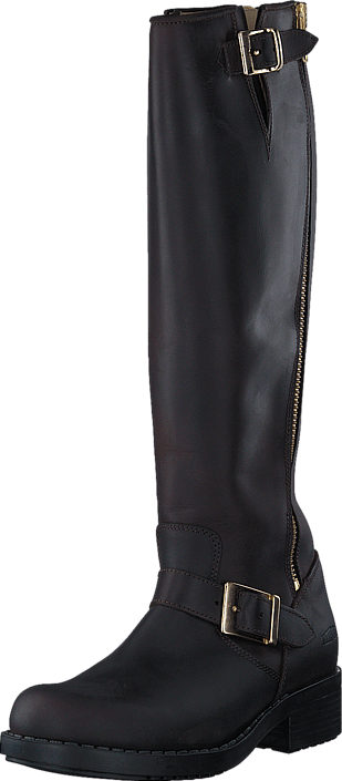 Johnny Bulls - High Boot Double Zip Brown / Shiny Gold