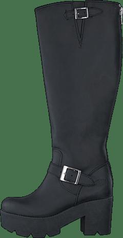 Osta. Johnny Bulls - High Platform Boot Black   Shiny Silver 1458bf2c06