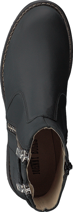 Johnny Bulls - Low Zip Boot Black / Shiny Silver