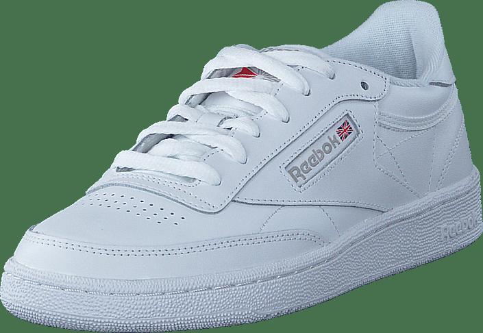Grey Kjøp light Sko Reebok Hvite Online White Sneakers Classic Club C 85 00BznrY