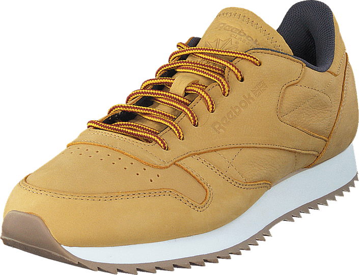 fde0b013a53 Buy Reebok Classic Cl Leather Ripple Wp Golden Wheat Urban Grey ...