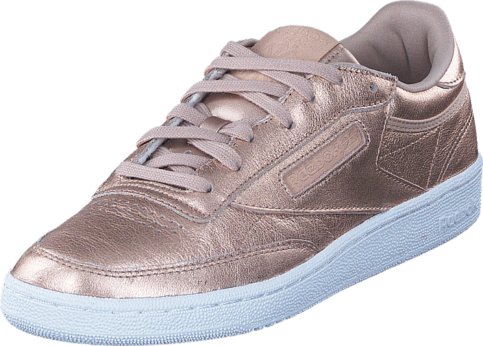 6cd04189dafd Buy Reebok Classic Club C 85 Lthr Pearl Met-Peach White white Shoes ...