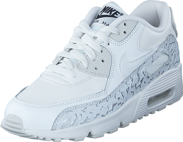 Nike Air Max 90 Leather SE GS kinderschoenen grijs