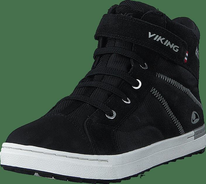 Viking Sagene Mid GTX svart vit svarta Skor Online
