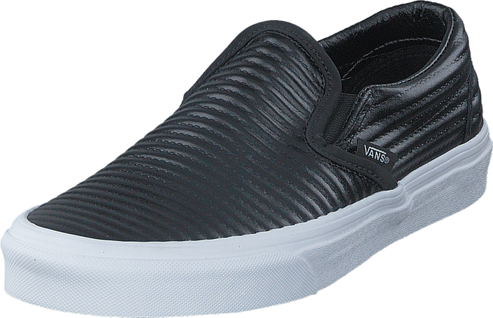 5c91481cab UA Classic Slip-On (Moto Leather) Black/White