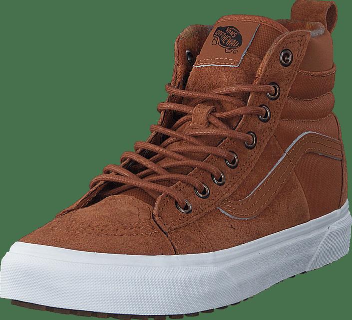 014fe40fac59a Buy Vans UA SK8-Hi 46 MTE DX (MTE) Glazed Ginger Flannel brown Shoes ...