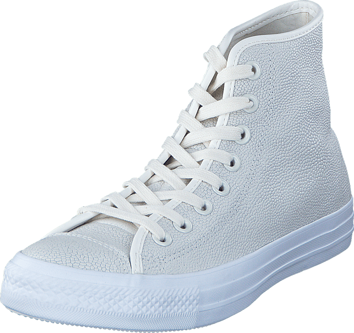 Converse - All Star Pebbled Leather Hi Egret/Egret/White