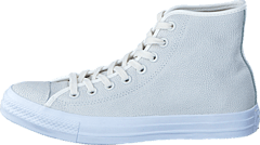 All Star Pebbled Leather Hi Egret/Egret/White
