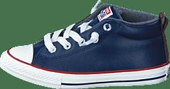 Converse - All Star Street Ltr Fleece Mid Midnight Navy Terra Red Egret 2dfb9262d0