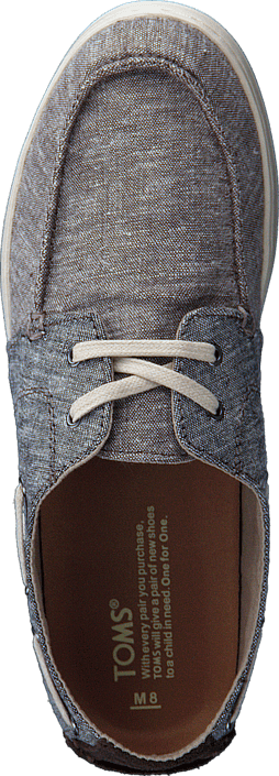 Toms - Seasonal New Men Black Chocolate Brown Chambray