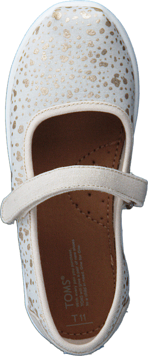 Toms - Mary Jane Tiny Gold Foil Snow Spots