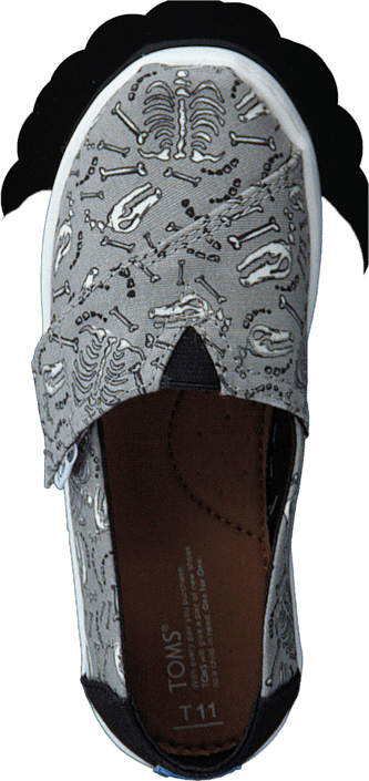 Toms - Alpargata Seasonal Tiny Drizzle Grey Glow In Dark Bone
