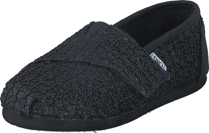 Toms - Seasonal Classic Tiny Black Lace Glimmer