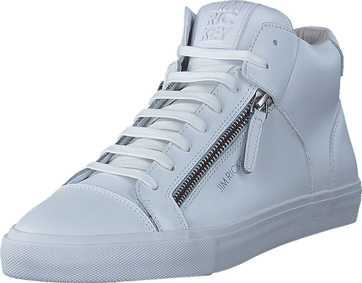 637f16d3 Kjøp Jim Rickey Zed Mid Leather White Mono hvite Sko Online | FOOTWAY.no