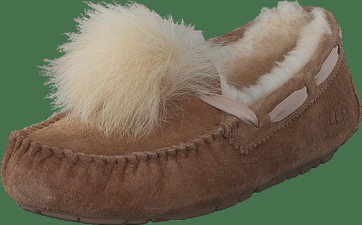 e29f69a534a5 Køb UGG Dakota Pom Pom Chestnut brune Sko Online