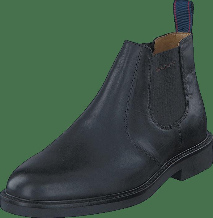 Gant Spencer G00 svart Leather gråa Skor Online