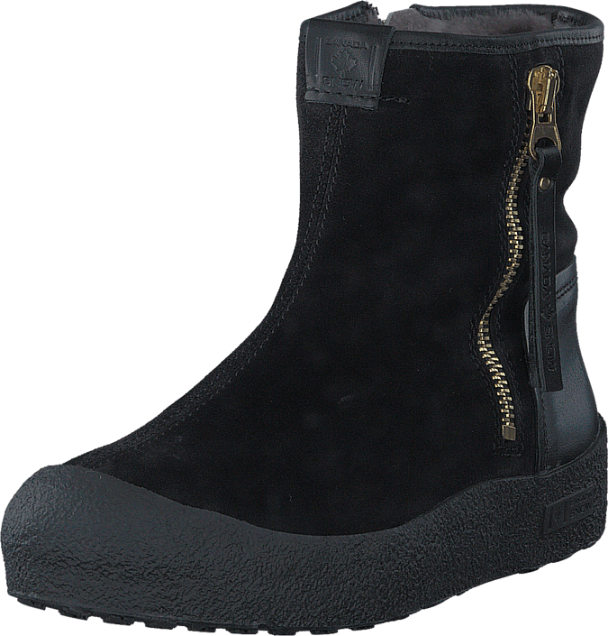 Black Canada Boots Snow Online Sorte Sko Zip Quebec Gold Kjøp UXqRR