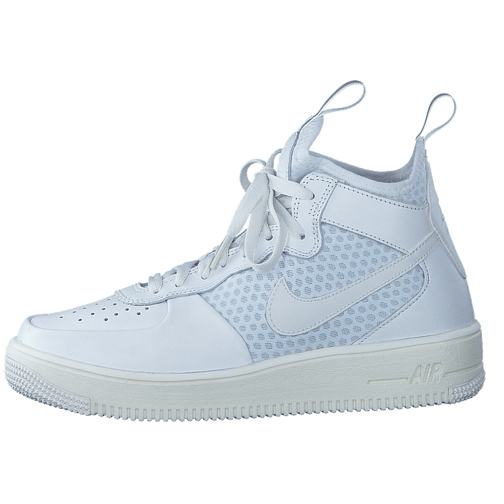 on sale a1b54 2416c Köp Nike Air Force 1 Ultraforce Mid-top White pure Platinum White vita Skor  Online   FOOTWAY.se