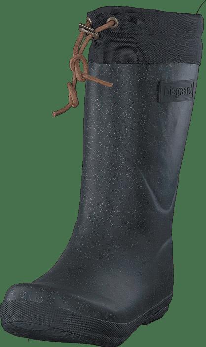 Rubber Boot Winter Thermo Glitter Black